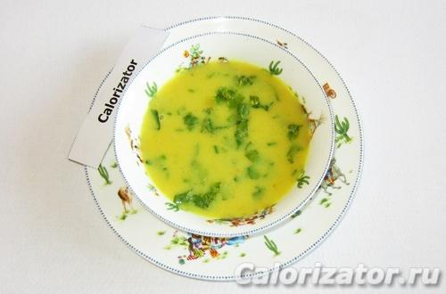 Суп-пюре с нутом и карри