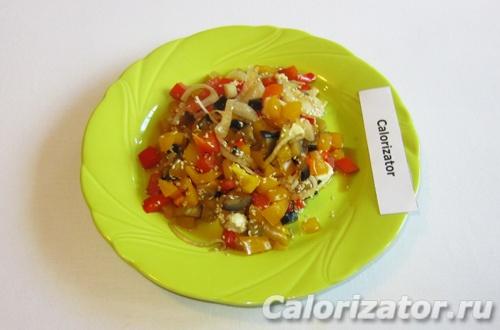 Овощи по-китайски с брынзой