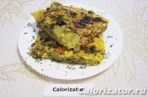 Тортилья с картофелем и грибами