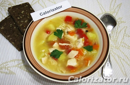 Суп из куриного филе и овощей