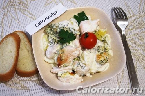 Запеканка картофель с курицей - как приготовить, рецепт с фото по шагам, калорийность.