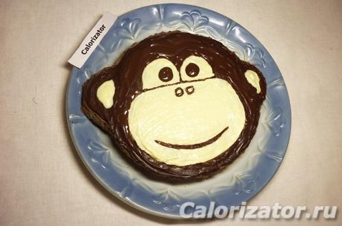 Торт Обезьянка шоколадно-банановый