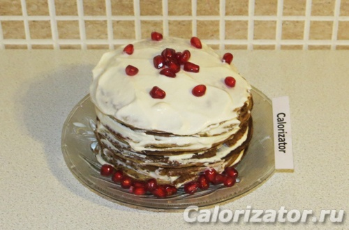 Торт из тыквенных панкейков