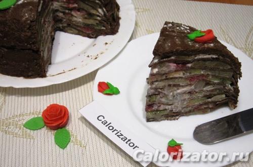 Блинный торт Шоколадный восторг