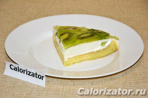 Бисквитный торт с киви