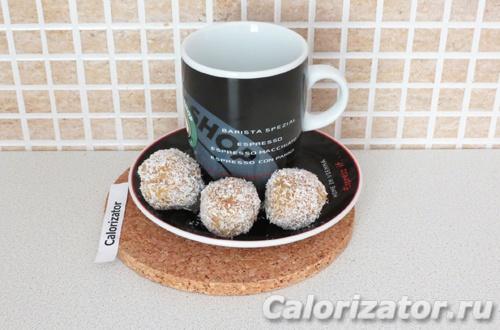 Кокосовые конфеты с курагой