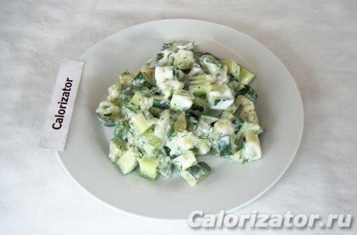 Салат из цуккини с огурцом