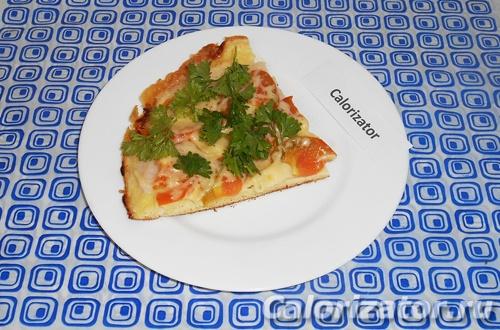 Быстрая пицца с ветчиной