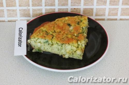 Капустный пирог из рисовой муки