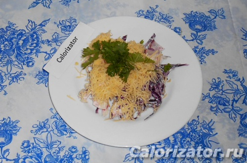 Салат из капусты и крабового мяса