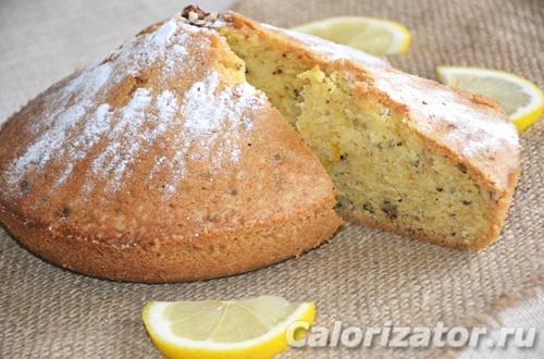 Кекс с орехами и лимонной цедрой