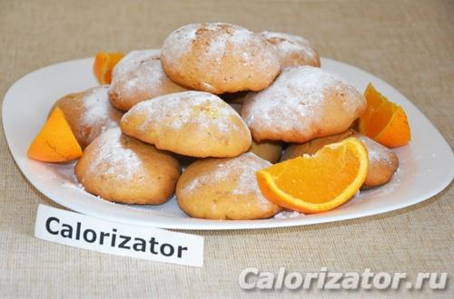 Домашнее печенье с апельсиновой цедрой