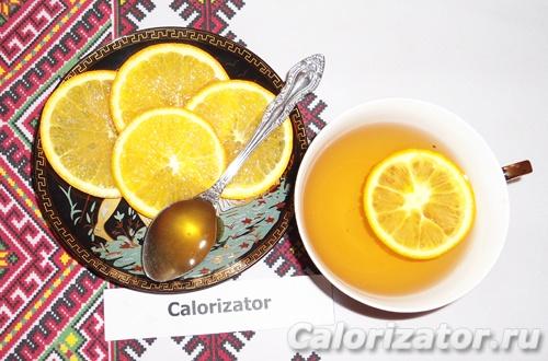 Имбирный чай с апельсином и медом