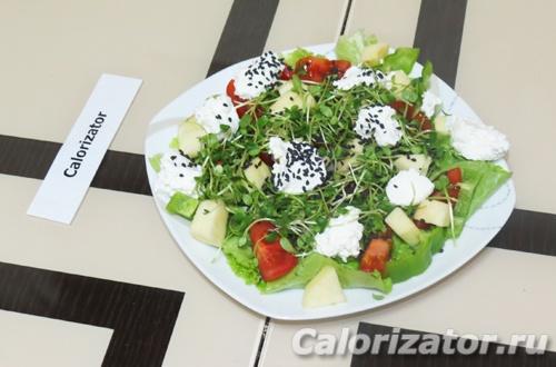 Фитнес-салат с микрозеленью
