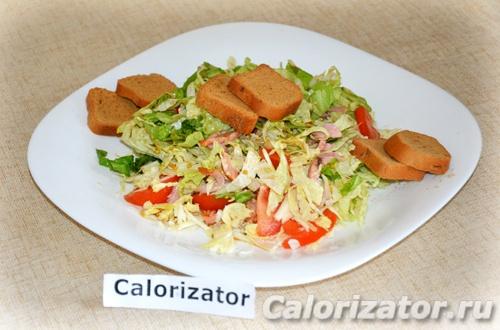 Салат с горчичной заправкой