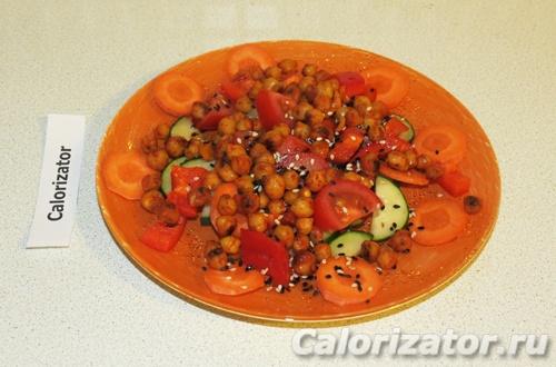 Салат с запеченным нутом