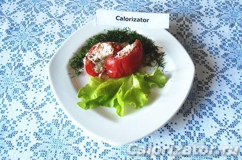 Запеченный томат с творогом