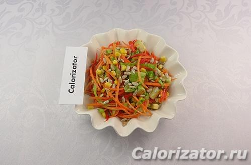 Салат морковно-кукурузный
