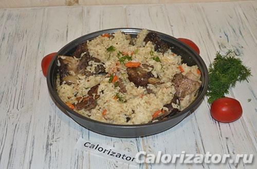 Говяжьи ребра с рисом