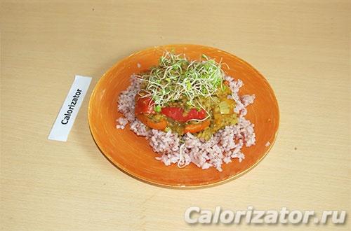 Рагу с чечевицей и рисом