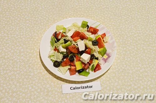 Салат из капусты с авокадо