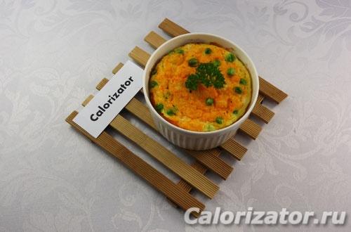 Морковная запеканка с горошком