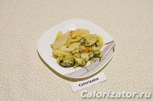 Картошка запеченная с брокколи