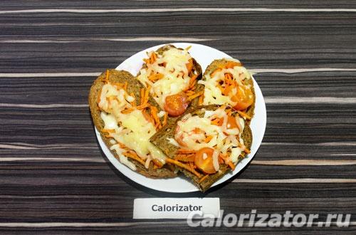 Бутерброды с морковкой по-корейски