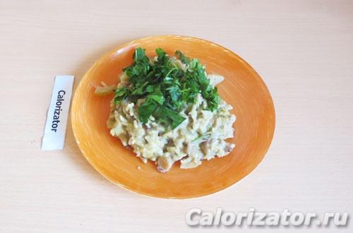 Сливочный рис с грибами
