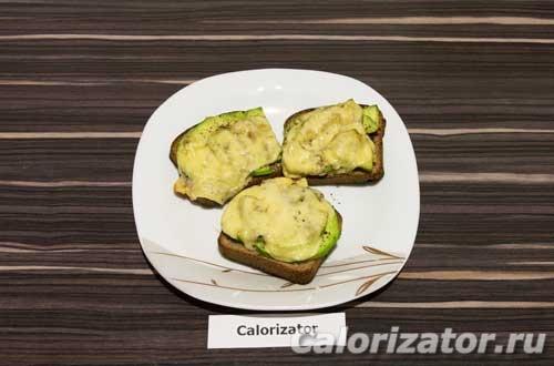 Горячие бутерброды с авокадо - как приготовить, рецепт с фото по шагам, калорийность.