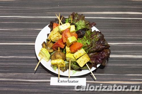 Вегетарианские шашлычки с тофу