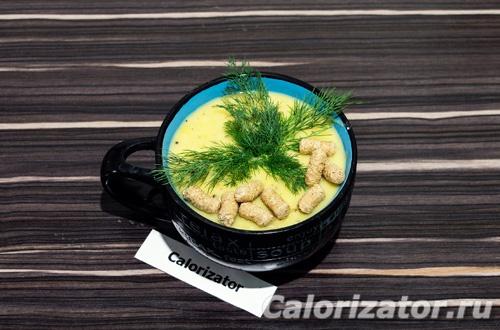 Гороховый суп пюре с кабачком