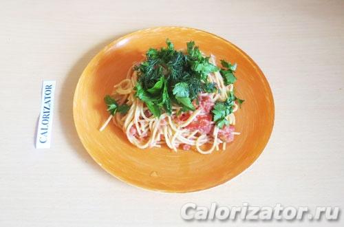 Веганские спагетти по-флотски