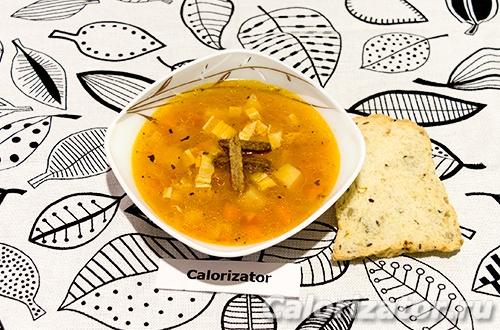 Овощной суп с соевой спаржей