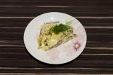 Готовое блюдо: слоеный грибной салат