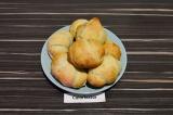 Готовое блюдо: круассаны с яблочным джемом и арахисом