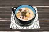 Готовое блюдо: суп из фасоли со сливками