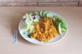Готовое блюдо: рагу из чечевицы