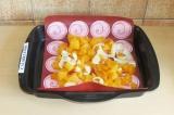 Шаг 2. Тыкву и лук запечь в духовке при 180 градусах в течение 30 минут.