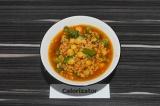 Готовое блюдо: овощная подливка из нута и стручковой фасоли