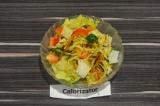 Готовое блюдо: овощной салат с картофелем пай