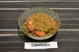 Готовое блюдо: амарантовая каша с клубникой