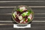 Салат из редиски с фасолью