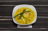 Готовое блюдо: французский суп с лисичками