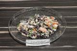 Салат из фасоли с вегетарианским яйцом