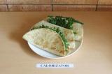 Готовое блюдо: буррито с фасолью и тофу