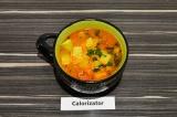 Готовое блюдо: овощной суп с киноа