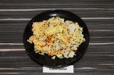 Готовое блюдо: смесь разного риса с соевой спаржей