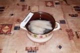 Шаг 1. Филе рыбы отварить в течение 7 минут.