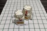 Готовое блюдо: слоеный десерт с маршмеллоу